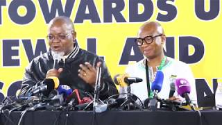 Gwede Mantashe gives an update on special NEC outcomes ahead of elective conference