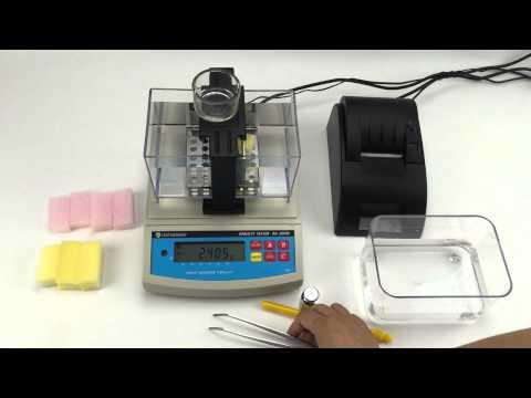 Demo video for foam,sponge digital density meter DA-300M