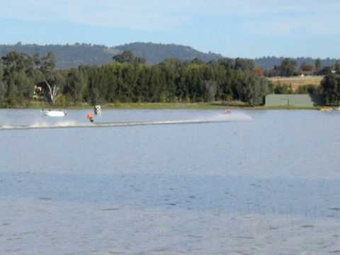 Speed Skiing At Lake Albert