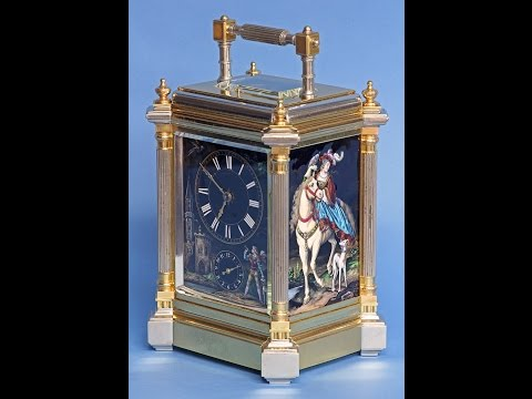 Rare c.1895 French Giant Limoge Carriage Clock