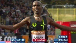 Mo Farah wins 2 Mile in Birmingham - Universal Sports