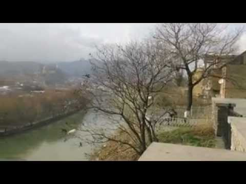 Overlooking the river in Tbilisi republic of Georgia 020113