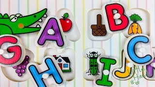abc color alphabet peg puzzle for toddler kids wood toys english 英語 パズル 영어   littlehands
