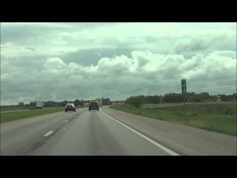 Illinois - Interstate 70 West - Mile Marker 50-40 (5/16/15)