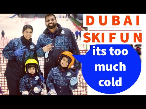 Dubai Wali Family @ SKI DUBAI July 2020, It's too much cold World's Best Indoor Ski Resort @ScorpDxb