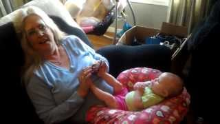 This Little Piggy With Grandma - Happy Birthday MOM and KALI BABY