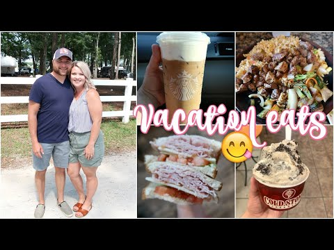 WHAT I EAT IN A DAY ON VACATION | CHEAT DAY FOOD