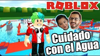 Wipeout in Roblox Beware of Water ? Roblox Karim Plays