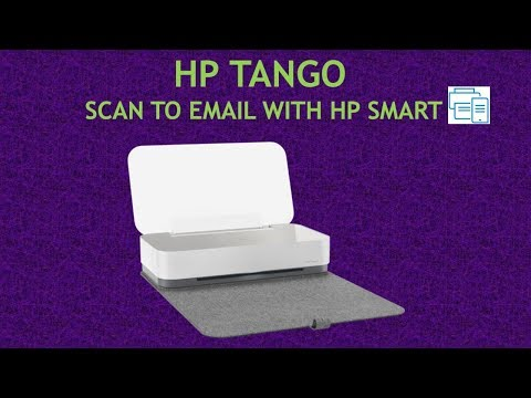 HP Tango : Scan to email using HP Smart