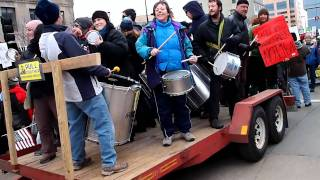 Wisconsin Protest Rally - Just Want to Bang on my Drums all Day Long