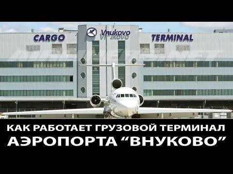 """Как работает грузовой терминал аэропорта """"Внуково"""" / Гигантские погрузчики / Чем загружают самолеты."""