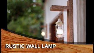 DIY - design - Rustic wall lamp - lampu dinding rustic