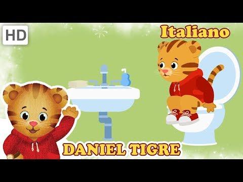 Daniel Tiger in Italiano 🎶🚽 Canzoni da Bagno (12 Minuti!)   Video per Bambini