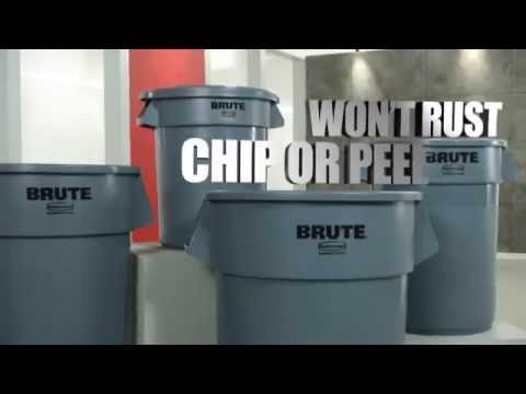 a rubbermaid brute trash can brings brute strength to cleanup - Brute Trash Can