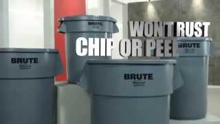 A Rubbermaid Brute Trash Can Brings Brute Strength To Clean-up
