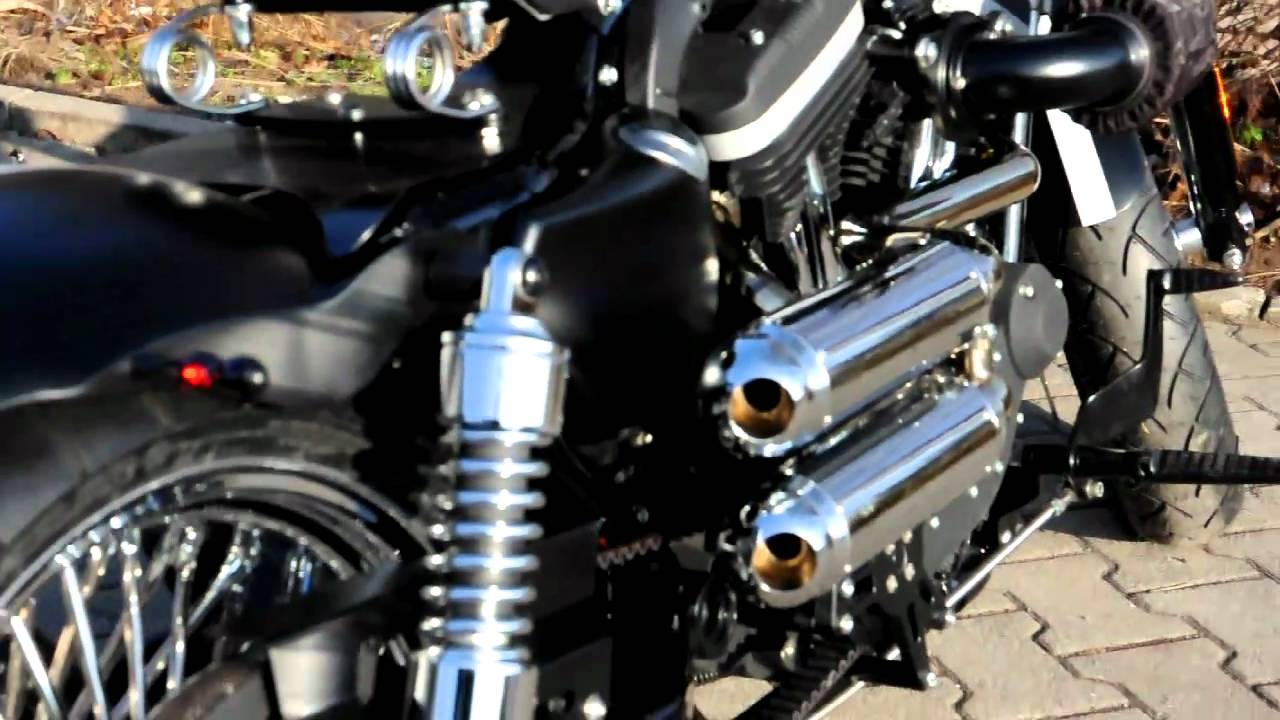 Harley Davidson Forty Eight Auspuff Youtube
