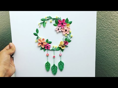 HOW TO MAKE A QUILLING DREAM CATCHER | DIY