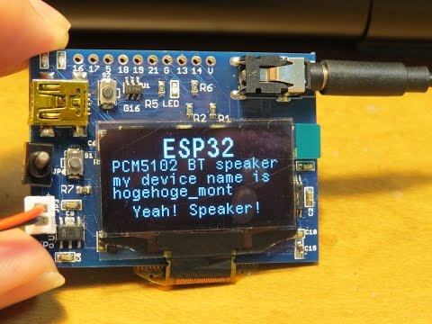 Bluetooth audio 2ch receiver  ESP32 and PCM5102A