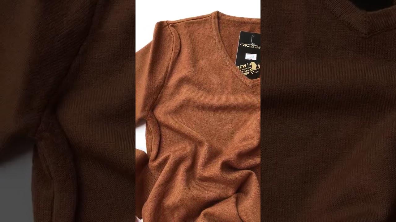 Áo len nam hot trend màu nâu da bò Hà Nội