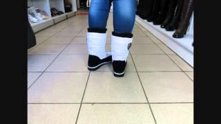 видео Белые женские сапоги