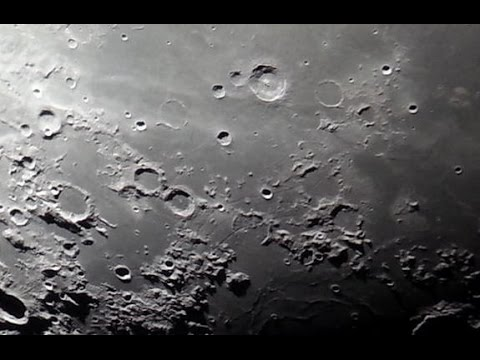 Moon through celestron astromaster eq telescope youtube