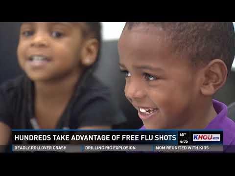 Hundreds take advantage of free flu shots in Galveston County