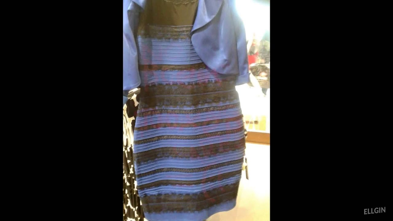 Тест белое или синие платье