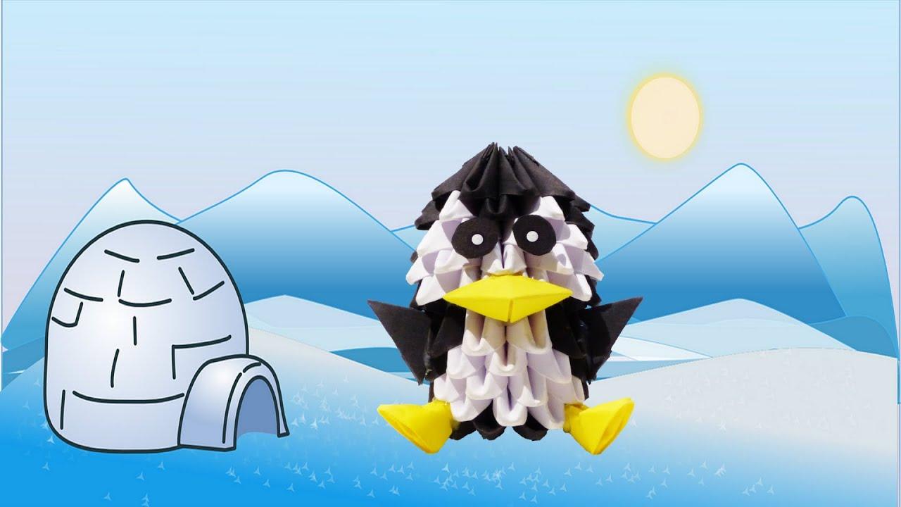 3D Origami Pinguin Tutorial (Deutsch) - 3D origami penguin ... - photo#26