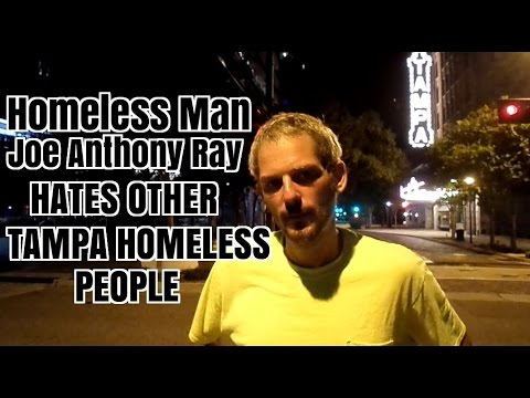 Homeless Tampa Man Hates Other Homeless People