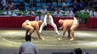 Чемпионат мира по сумо 2014 Byamba СУПЕР БРОСОК
