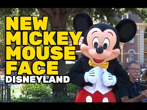 New redesigned Mickey Mouse character face debuts at Disneyland