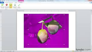 Microsoft Word tutorial: How to edit picture backgrounds | lynda.com