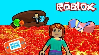 the floor is Lava in Roblox in Spanish or The Floor is Lava in Abrelo Game