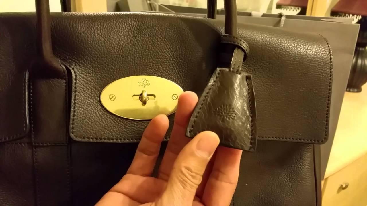Unboxing Latest Mulberry Regular Classic Bayswater Chocolate Color Handbag  2016 2dc5ec4319f73