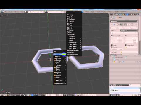 How to create a dynamic chain in Blender.