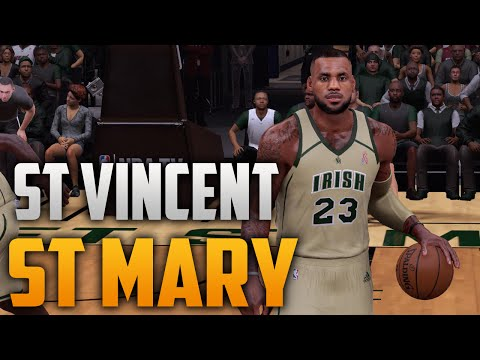 NBA 2K16 LeBron James Highschool Court & Jersey (St. Vincent. St. Mary)