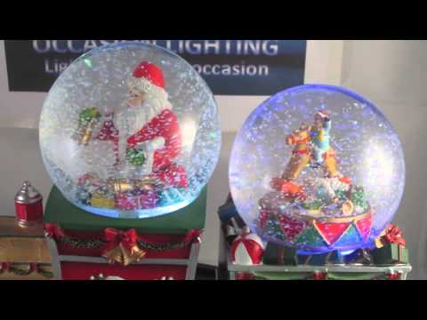 Christmas train Santa snow globe