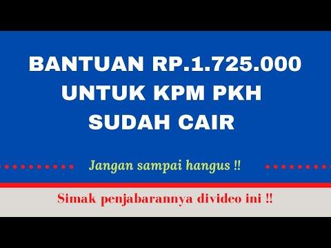 BANTUAN Rp. 1.725.000 untuk KPM PKH,  Ayoo SEGERA CEK!!!!
