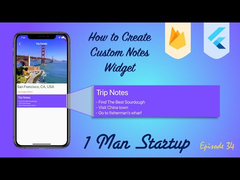 How to Create Custom Notes Widget & Update Data In Firebase With Flutter