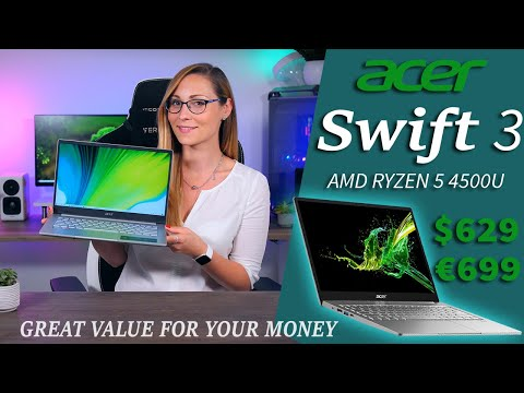 "Is the Cheapest Ryzen 5 Laptop any Good? - Acer Swift 3 Review (14"", AMD Ryzen 5 4500U, 8GB 1080p)"