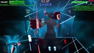 Highlight: Beat Saber VR! Mixed Reality Escape / Hard / Full Combo Personal Best | Day 3 - Episode 1