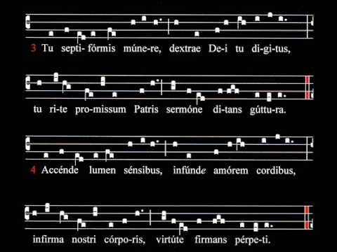 Spartito e ascolto Inno di Rabano Mauro IX sec. Pentecoste, VENI  CREATOR  SPIRITUS, Schola Gregoriana Mediolanensis, Giovanni Vianini, Milano, Italia