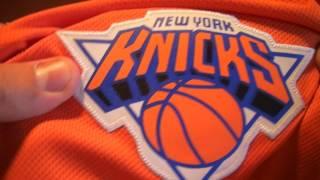 Баскетбольные шорты NBA New York Knicks оранжевые магазин Basket Family