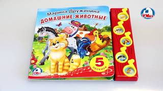 """""""УМка"""". Книжка """"Домашние животные"""", 5 кнопок (197754)"""