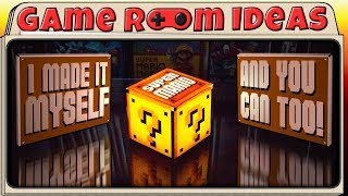 Homemade Super Mario Question Block Light Up - How to   Game Room Ideas