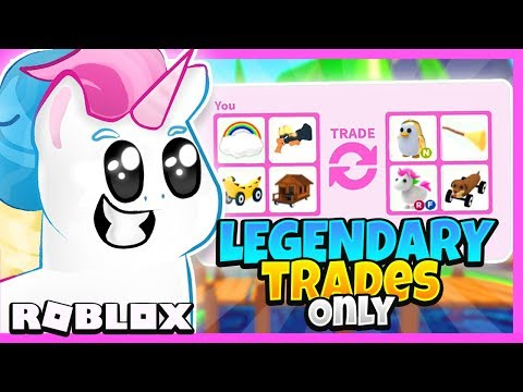 I Traded Only Legendary Items In Adopt Me For 24 Hours Adopt Me Roblox Trading Challenge Youtube