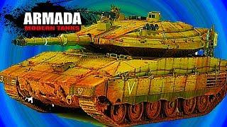 ARMADA WORLD OF MODERN TANKS Merkava Мульт танки Онлайн игра Боевые машинки.Бои танков Видео #33