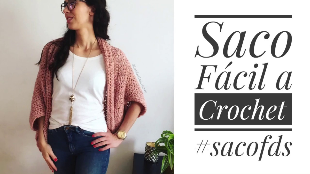 Tutorial: Saco Fácil a Crochet (#sacoFDS) - YouTube