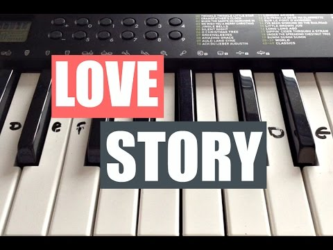 Love Story - Taylor Swift | Easy Keyboard Tutorial With Notes (Right Hand)