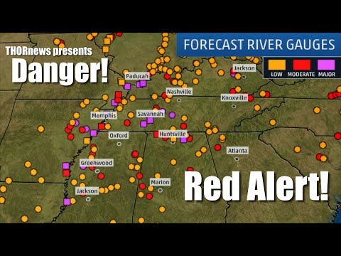 Danger! Alert! MAJOR RIVER FLOODING PROBLEMS for SOUTH & WEST USA through March
